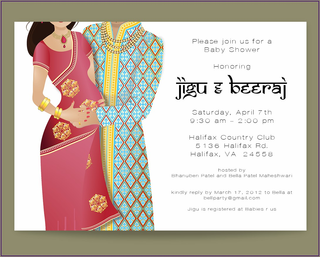 Godh Bharai Invitation Card In Hindi