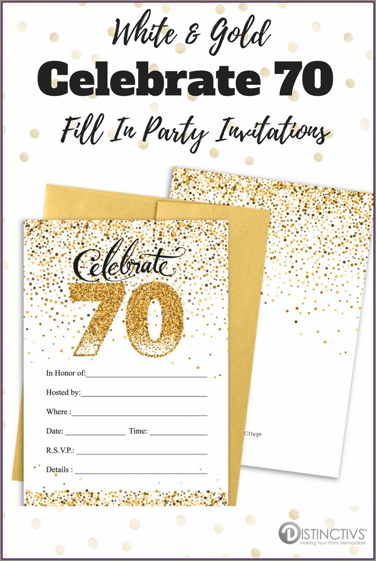 Gold Birthday Invitation Cards