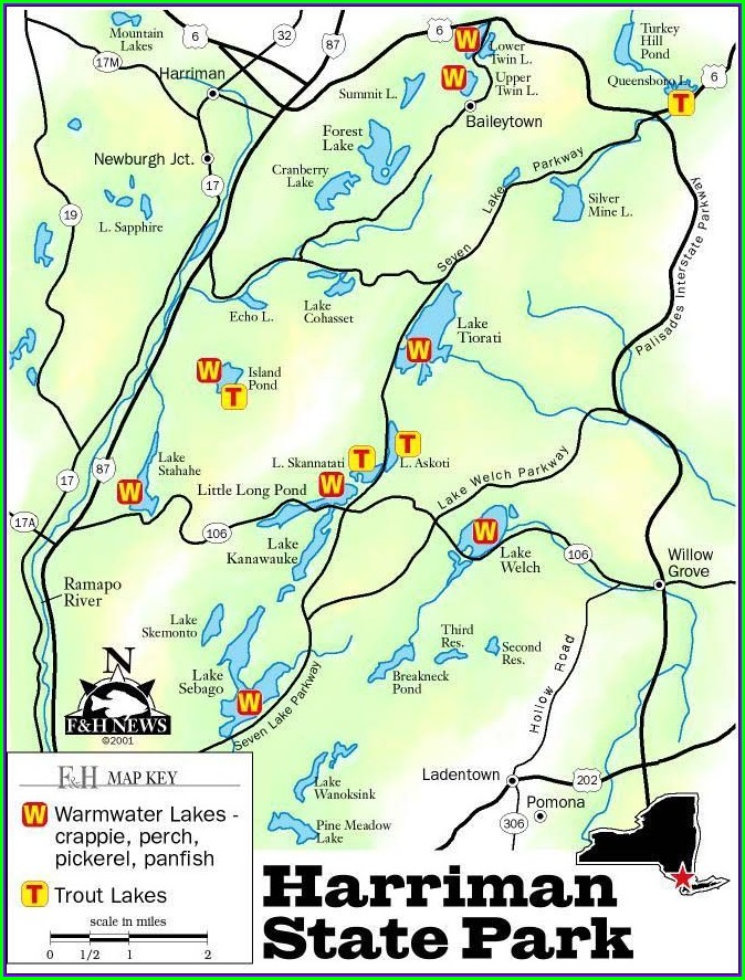 Harriman State Park Shelter Map