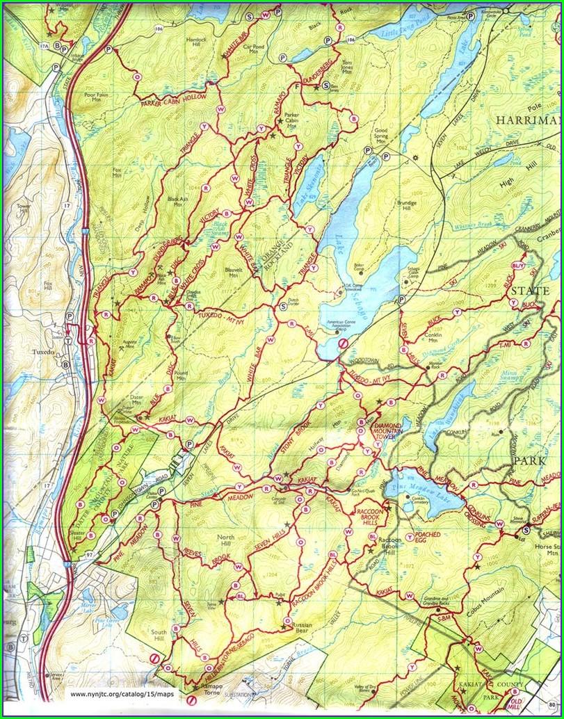Harriman State Park Trail Map App