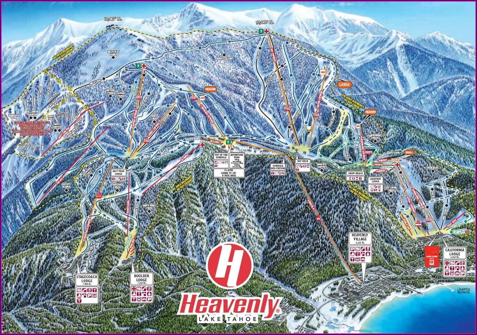 Heavenly Ski Resort Map