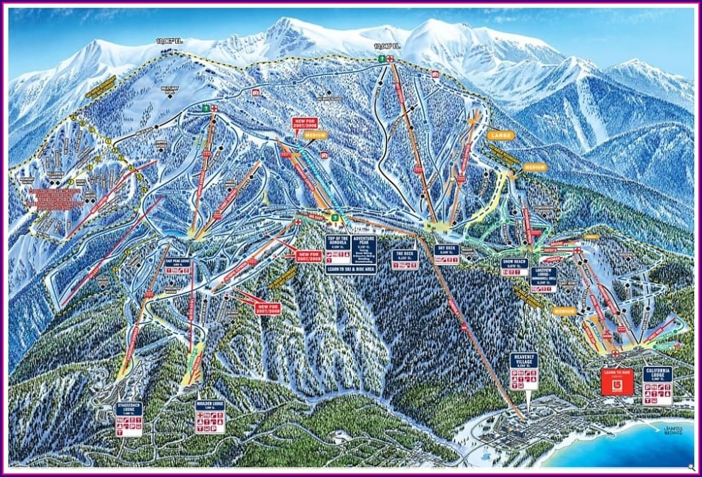 Heavenly Ski Resort Trail Map