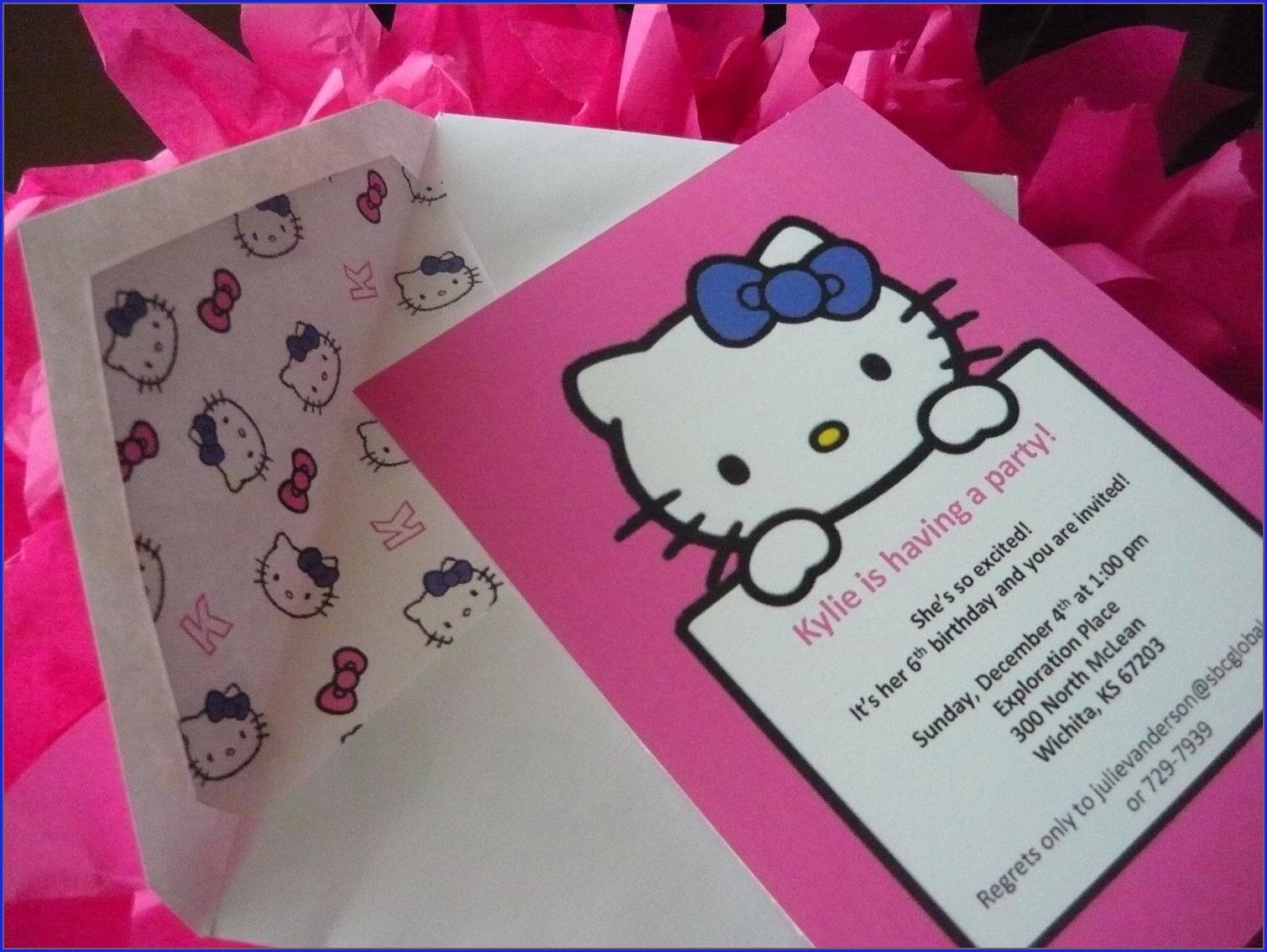 Hello Kitty Customized Invitations
