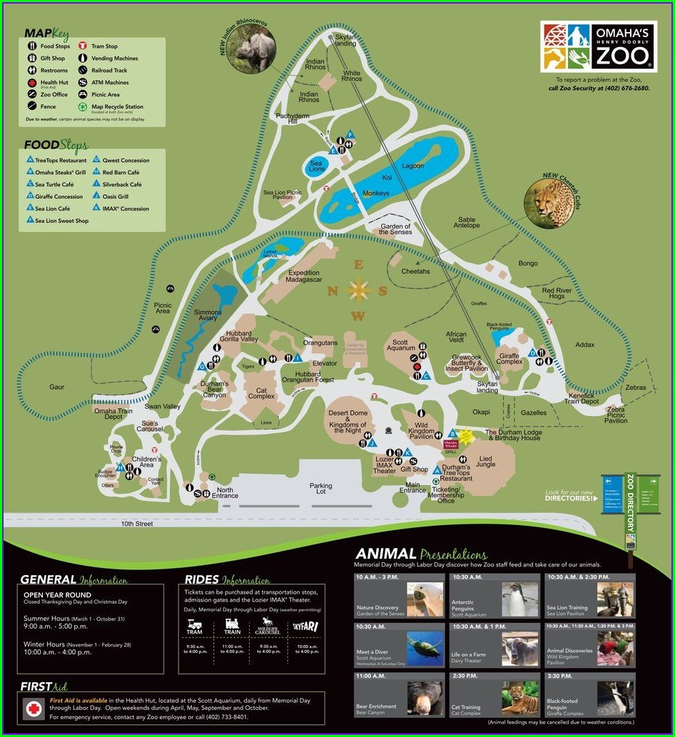 Henry Doorly Zoo Map 2019