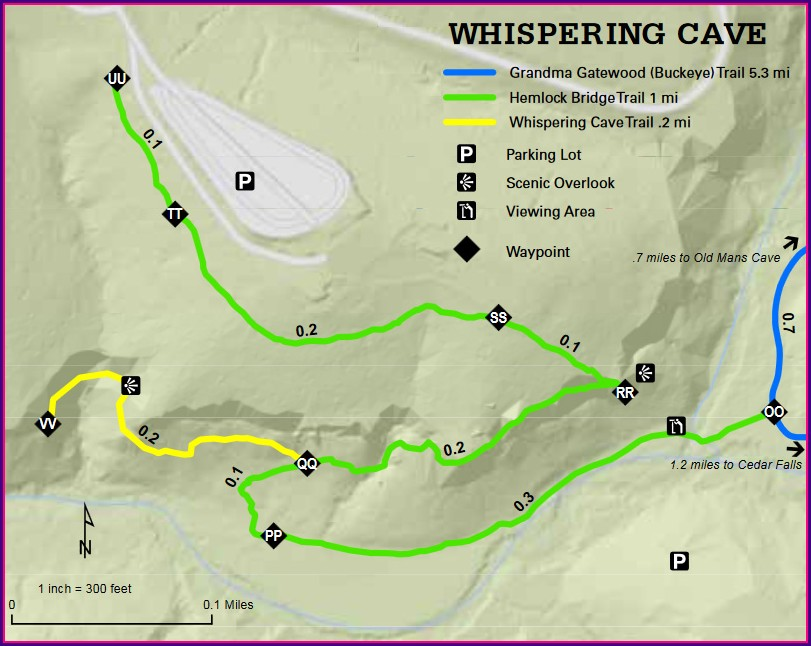 Hocking Hills State Park Site Map
