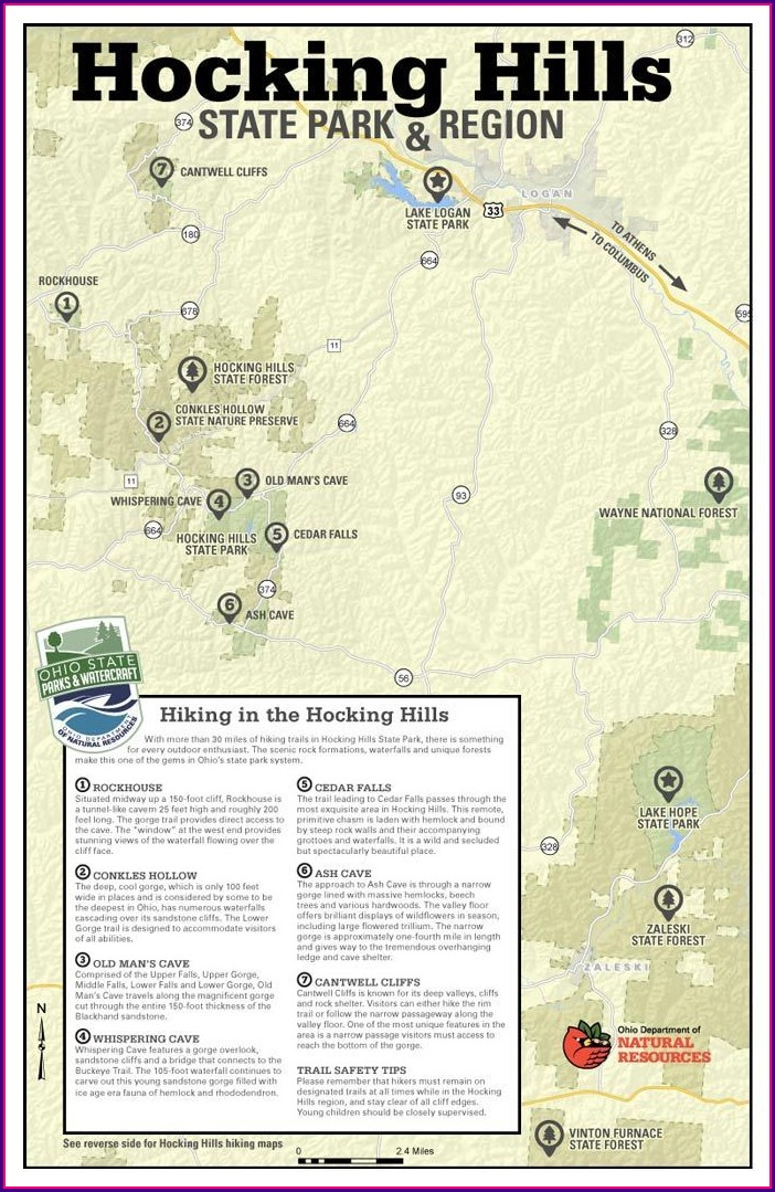Hocking Hills Waterfall Map