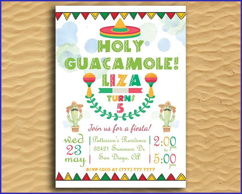 Holy Guacamole Birthday Invitation