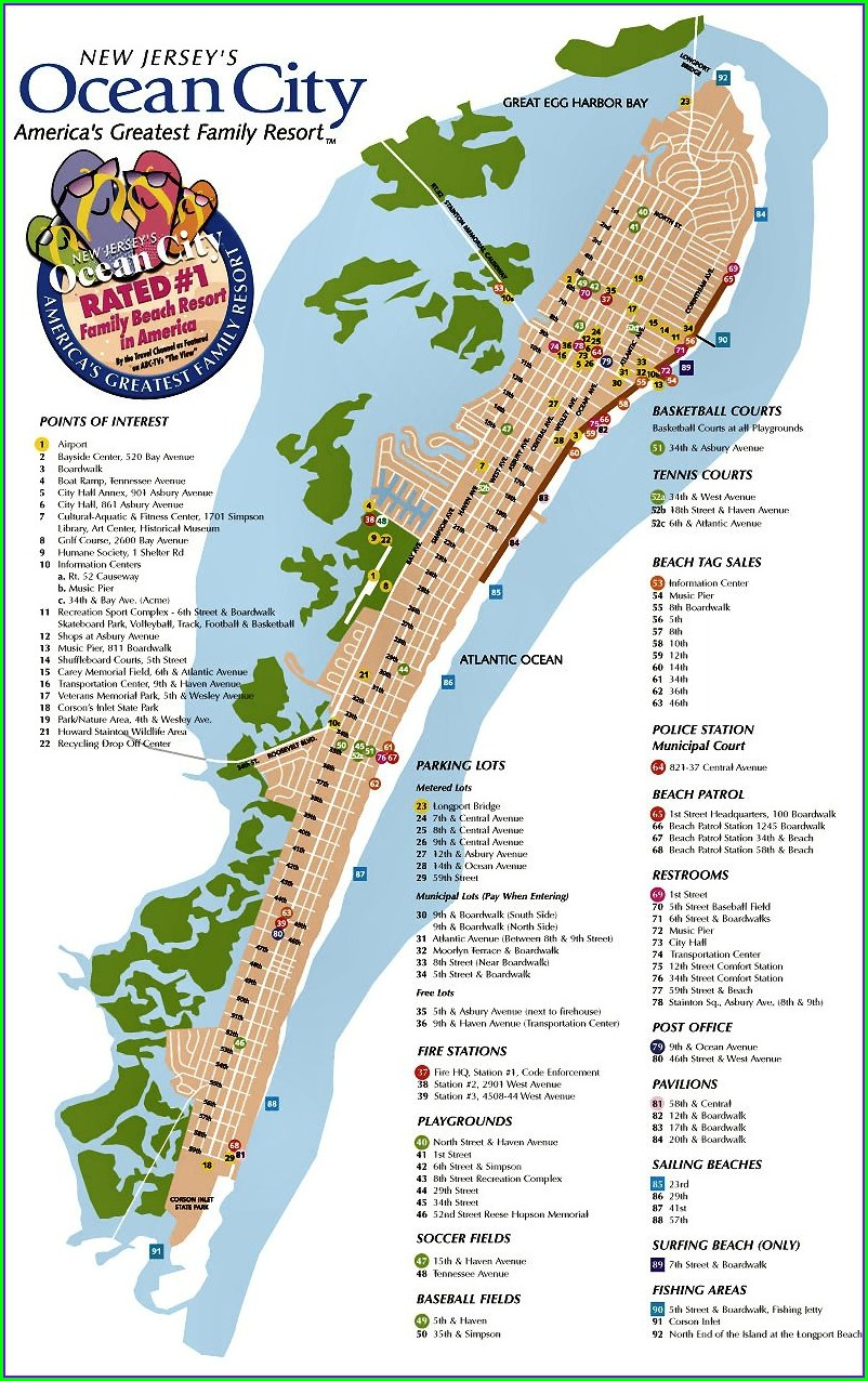 Hotels Map Of Ocean City Md