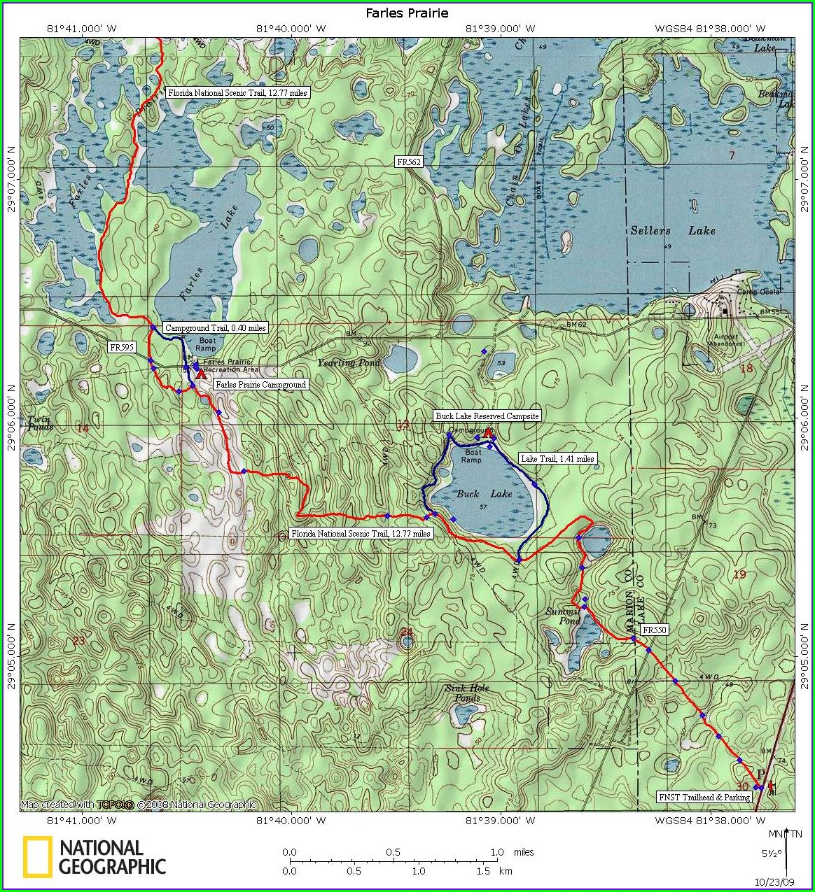 Hunting Ocala National Forest Map