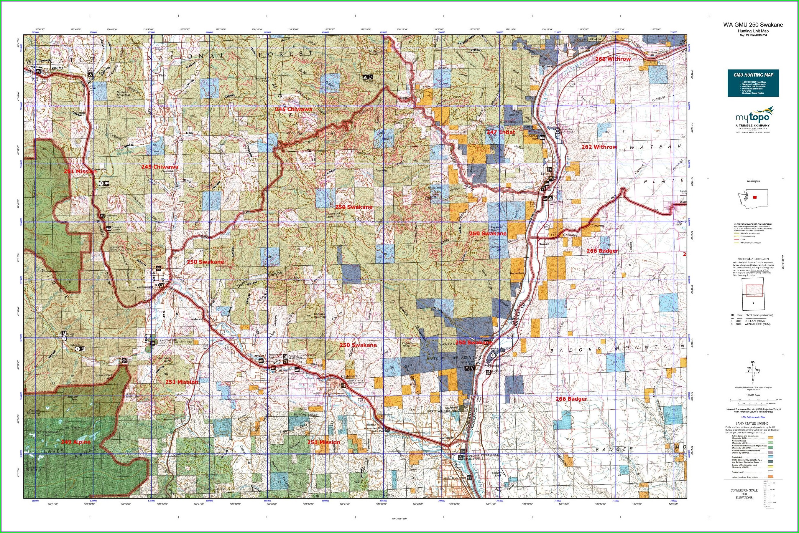 Hunting Washington State Gmu Map