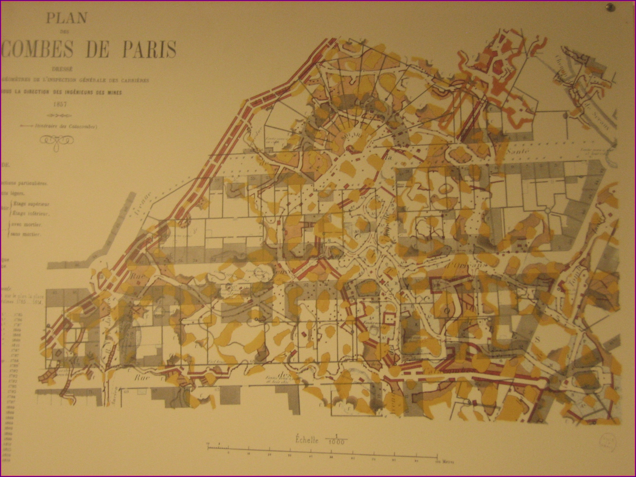 Illegal Paris Catacombs Map