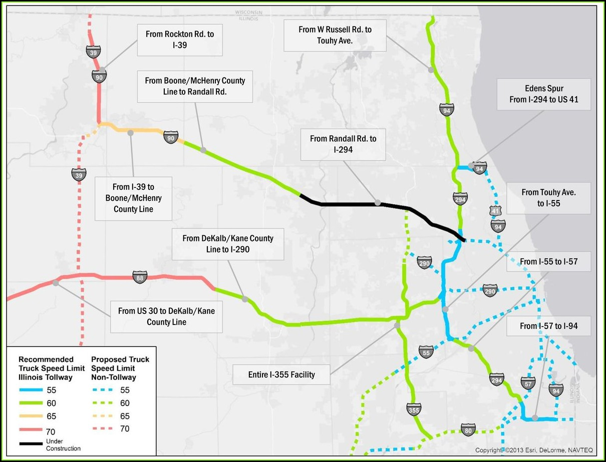Illinois Tollway Map I 94