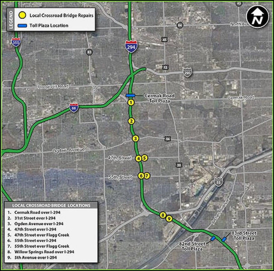Illinois Tollway Map Pay Online