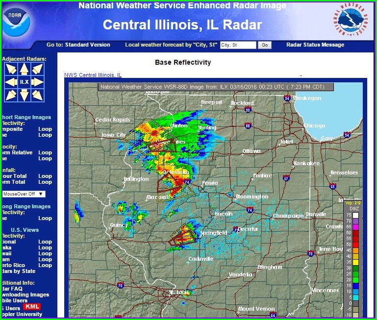 Illinois Weather Map Radar