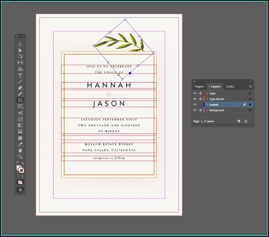 Indesign Wedding Invitation Template Free