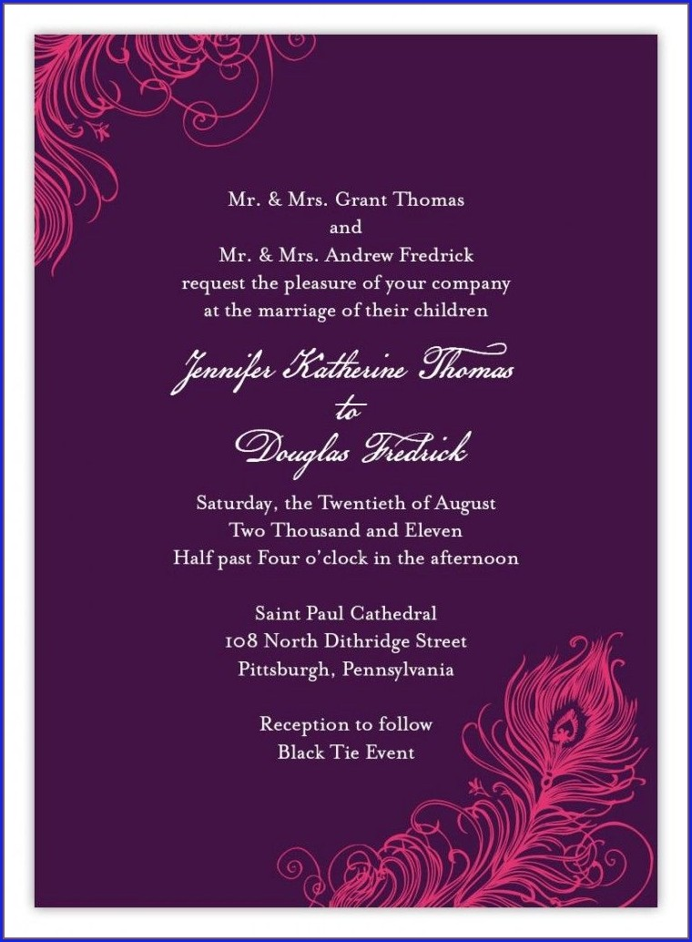 Indian Wedding Invitation Quotes In English