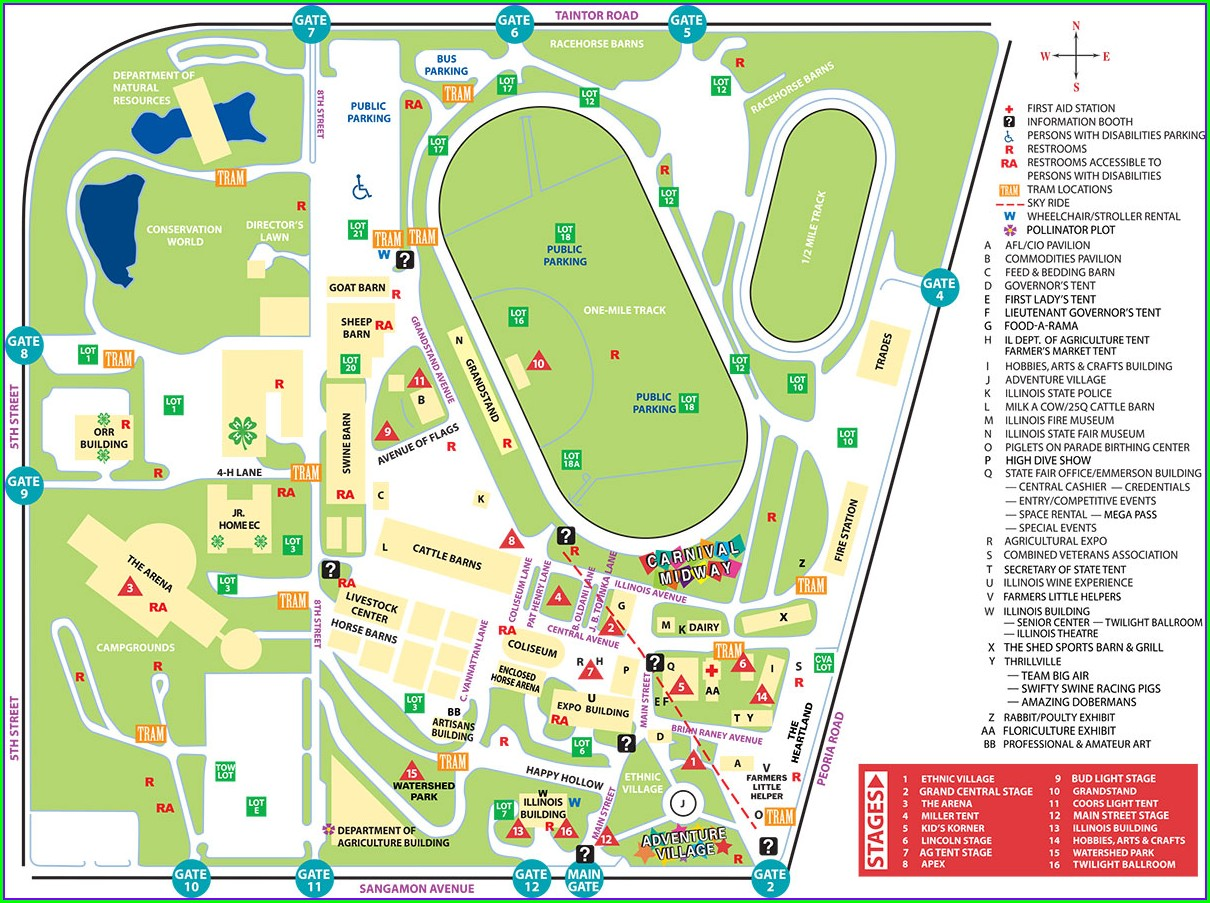 Indiana State Fairgrounds Map 2019