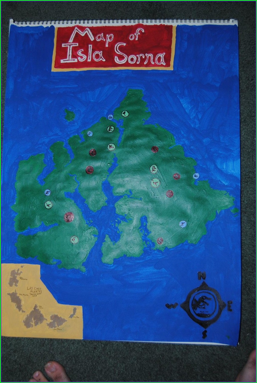 Isla Sorna Jurassic Park Island Map