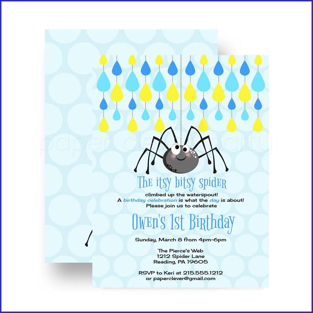Itsy Bitsy Spider Invitations