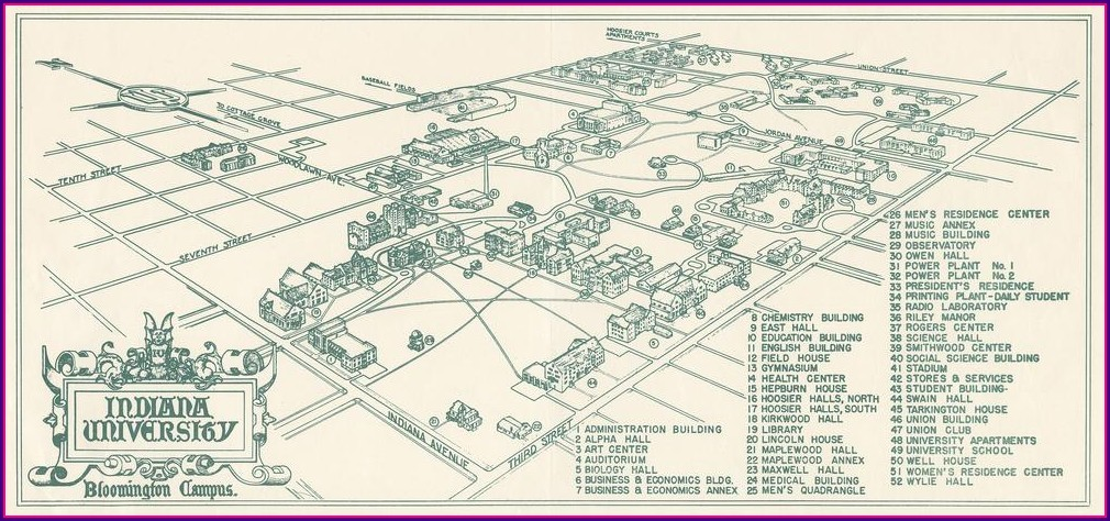 Iu Campus Map Of Buildings