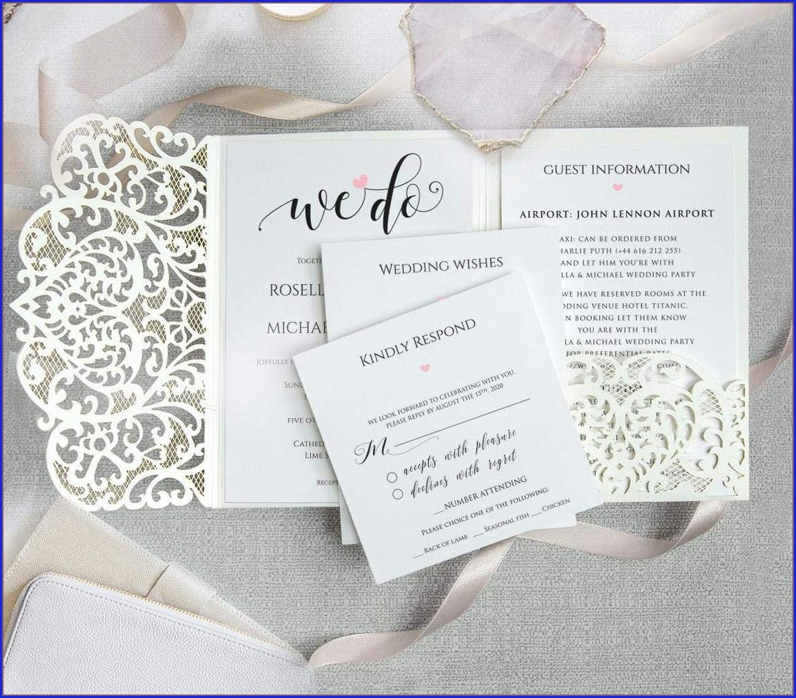 Ivory Wedding Invitation Envelopes