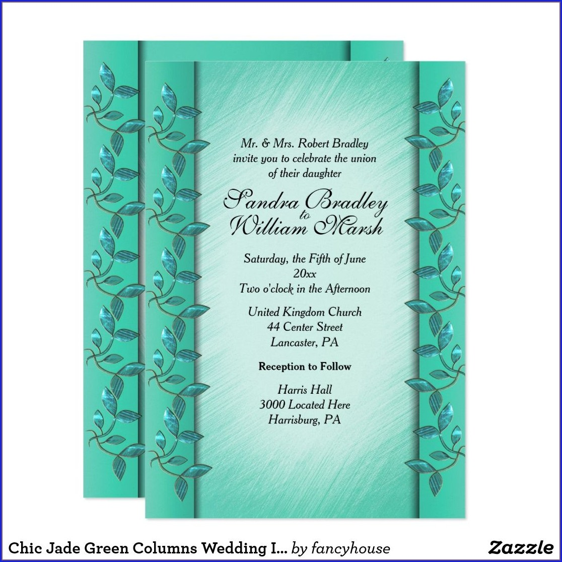 Jade Green Wedding Invitations