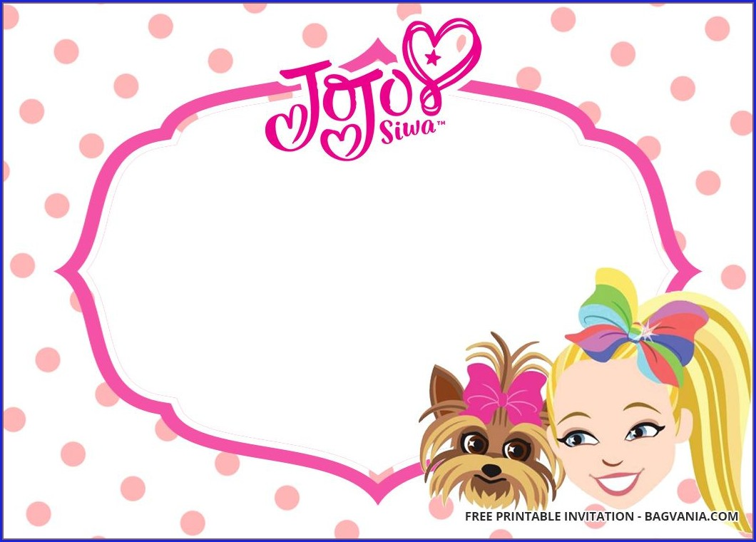 Jojo Siwa Free Printable Invitations