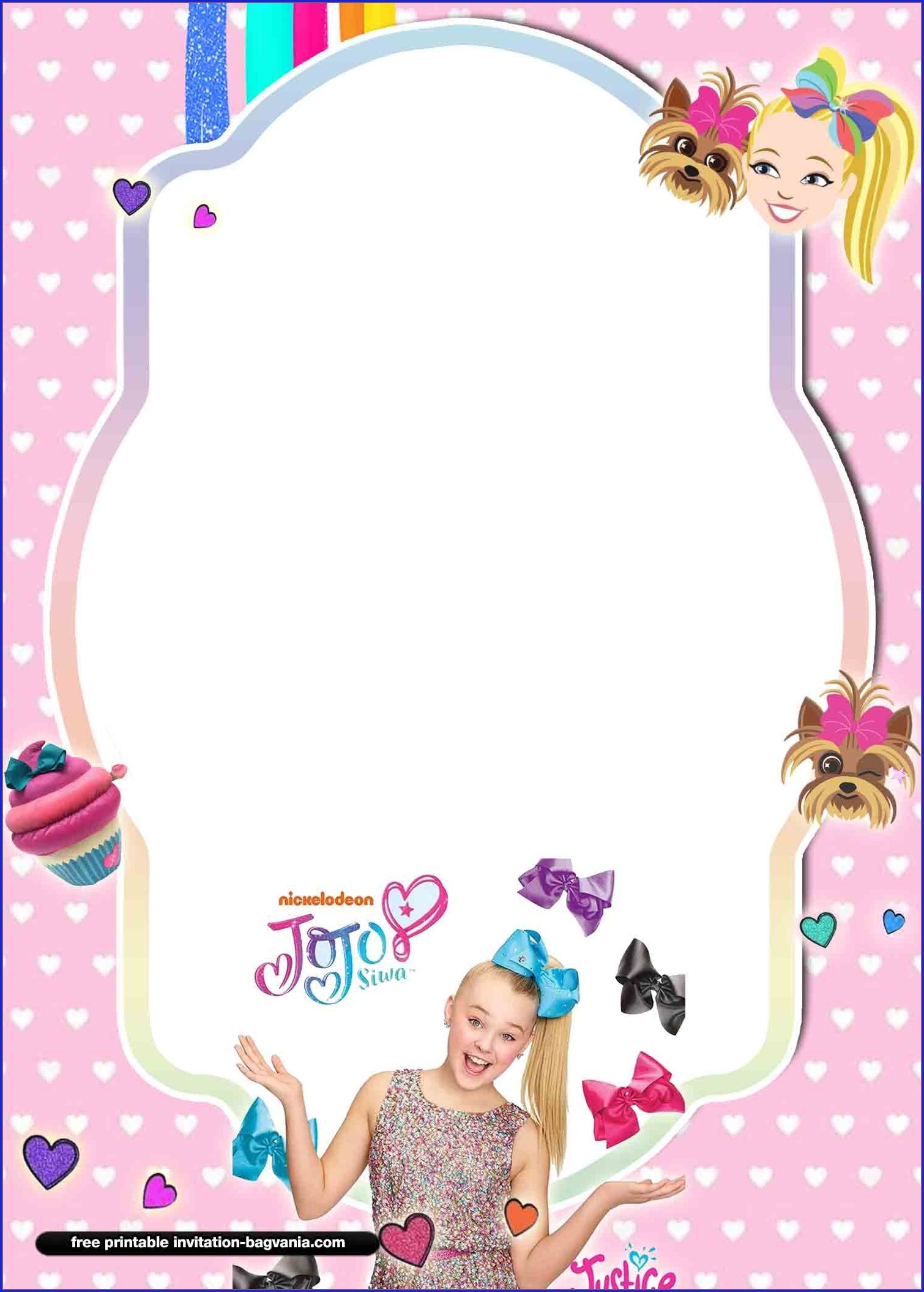 Jojo Siwa Invitations Free