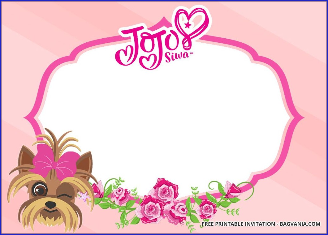 Jojo Siwa Invitations Templates Free