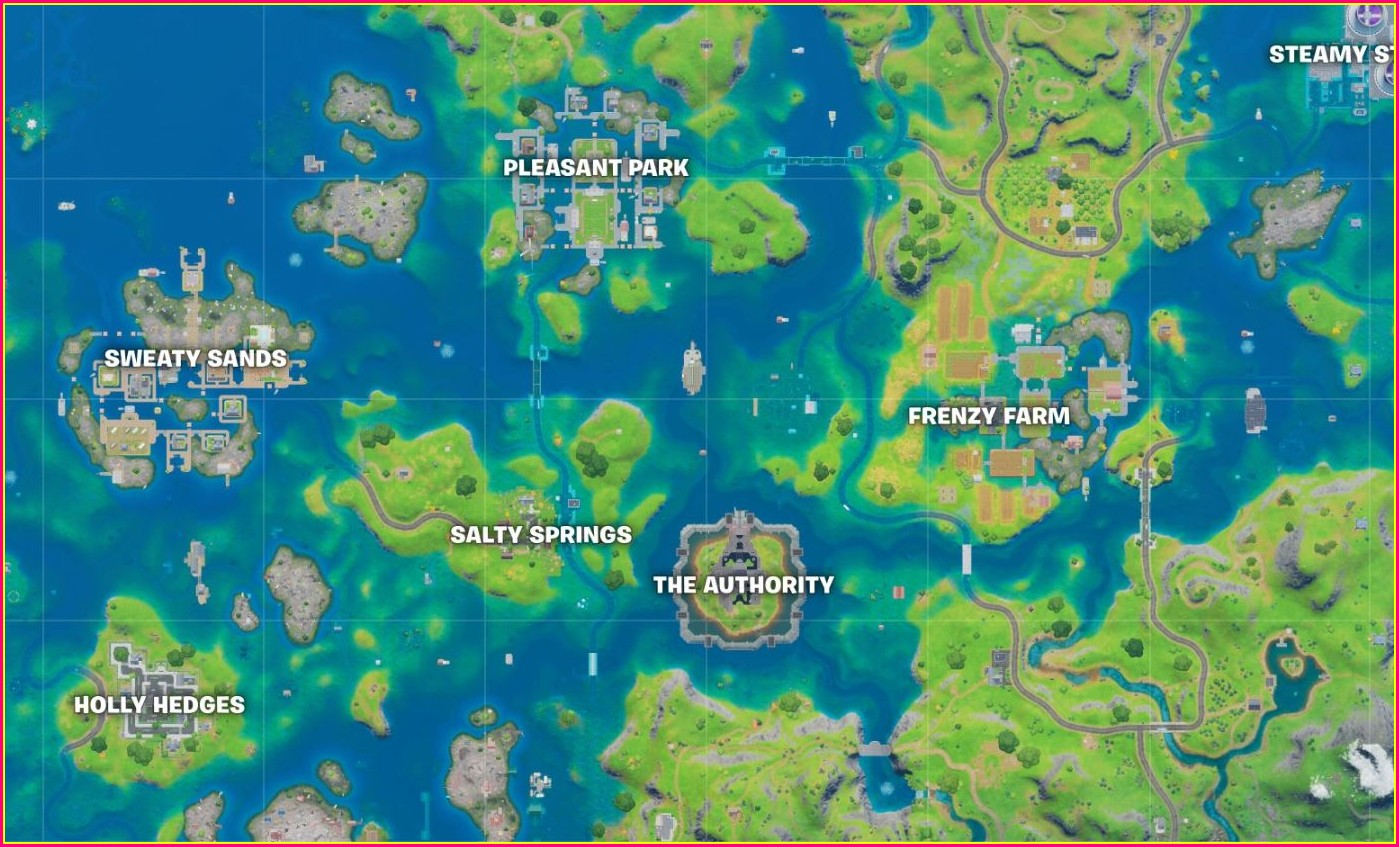 June 2018 Old Fortnite Map Season 1