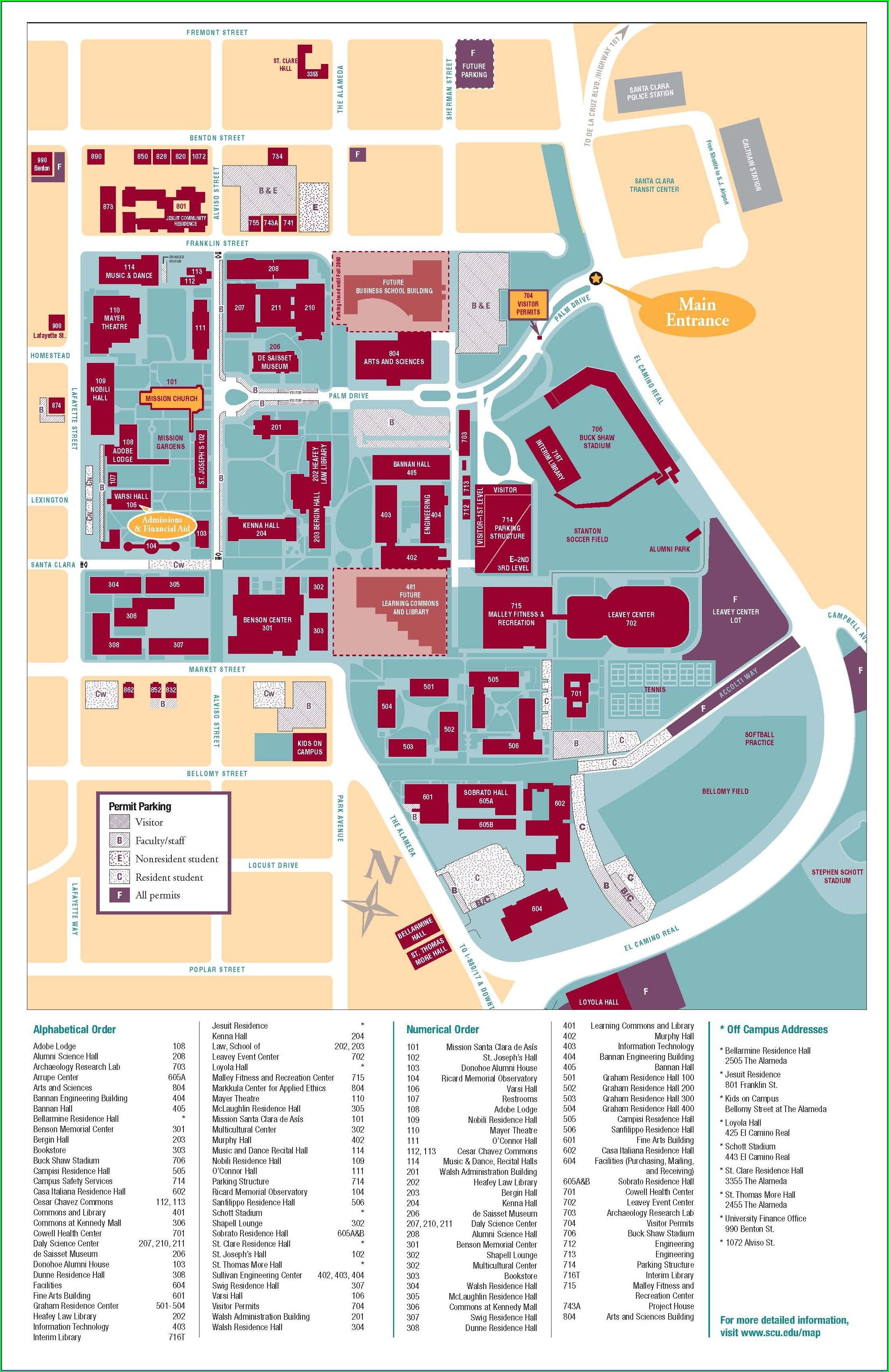 Kaiser Permanente Santa Clara Campus Map