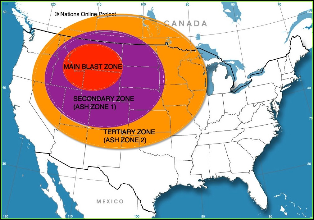 Kill Zone Yellowstone Supervolcano Map