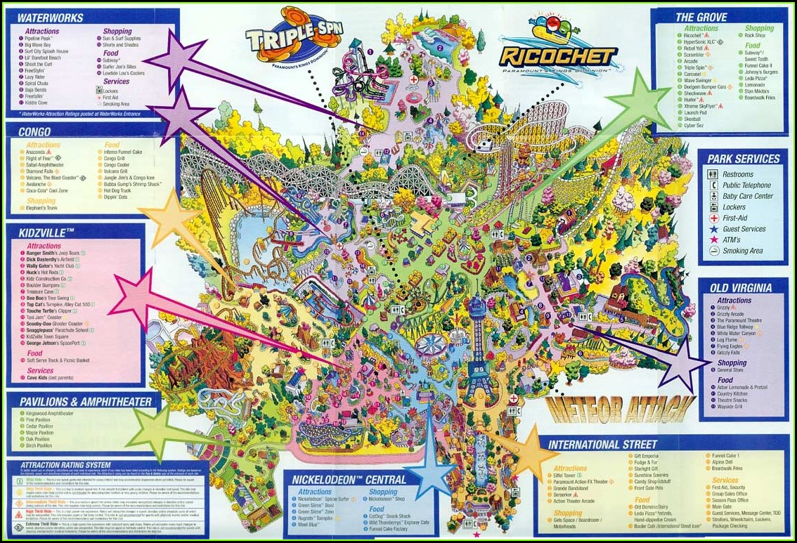 Kings Dominion Map 2010