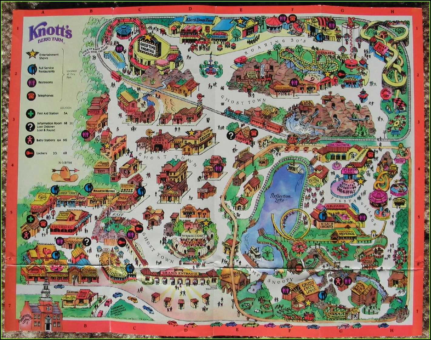 Knotts Berry Farm Rides Map