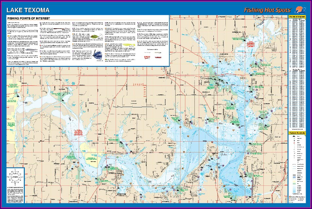 Lake Texoma Water Depth Map