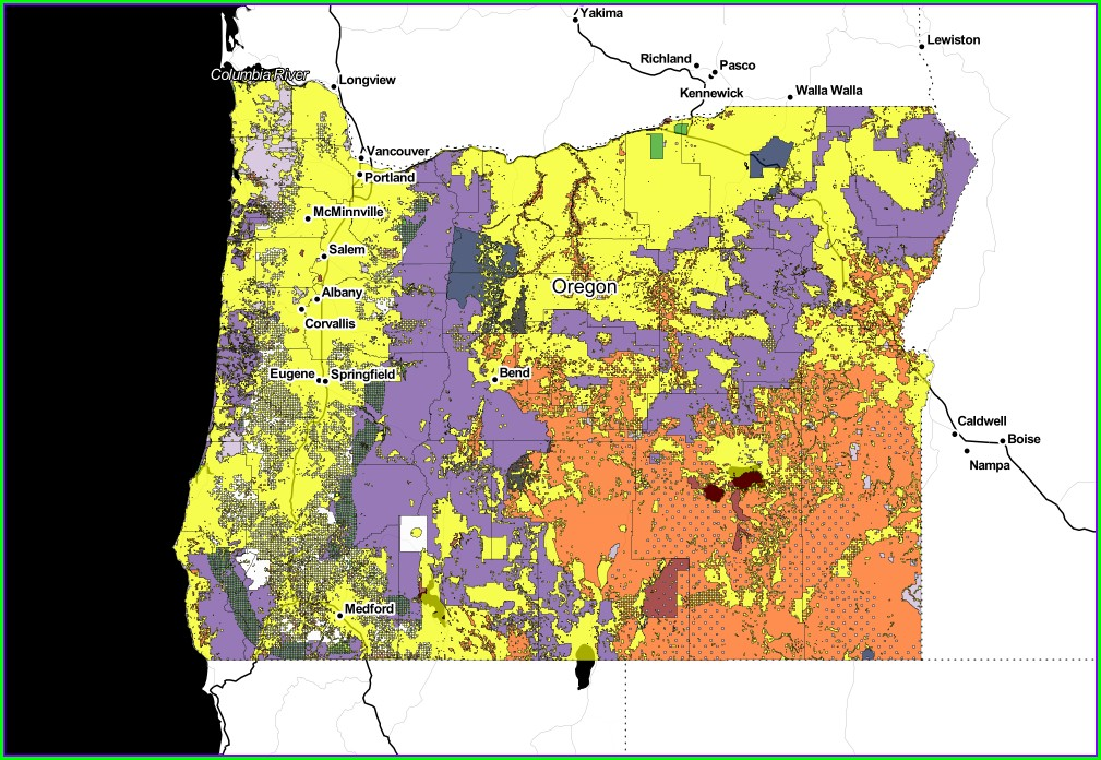Land Ownership Oregon Blm Land Map