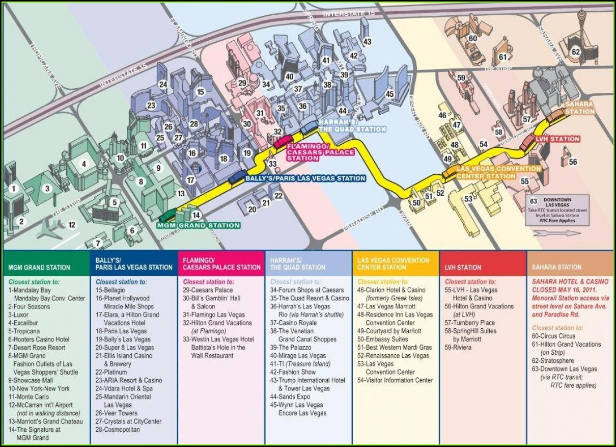 Las Vegas Monorail Map 2019