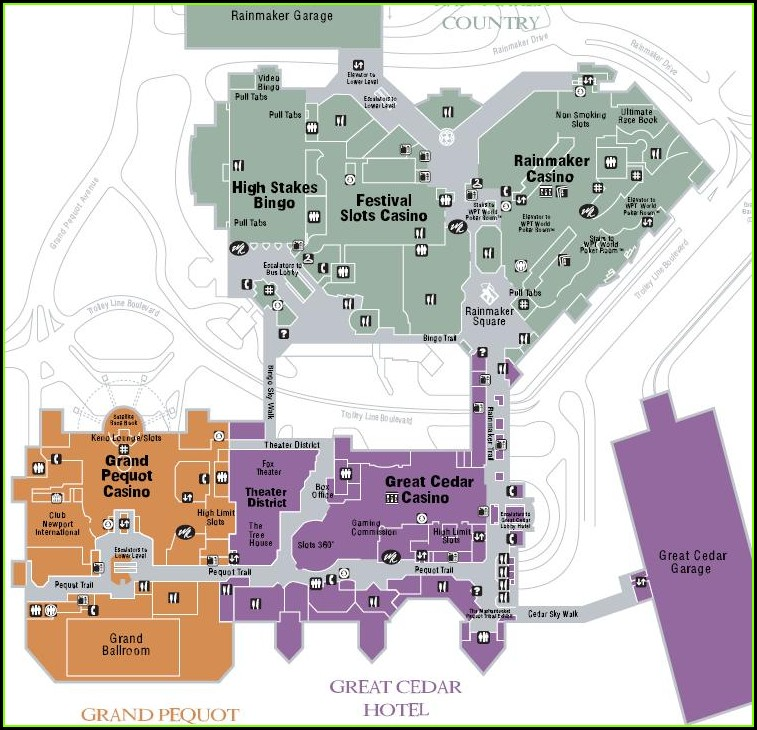 Layout Mohegan Sun Map