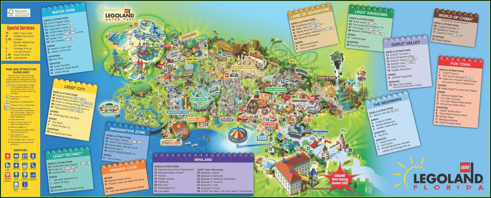 Legoland Florida Park Map 2019