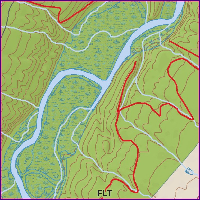 Letchworth State Park Trail Map North