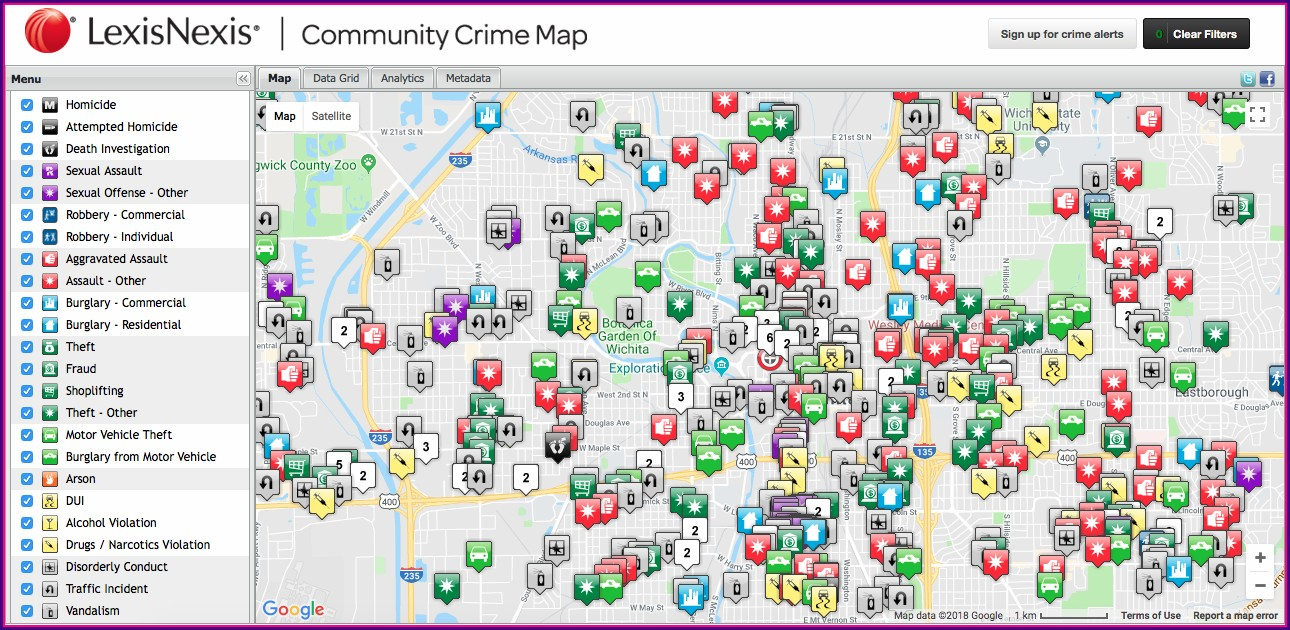 Lexisnexis Crime Map App