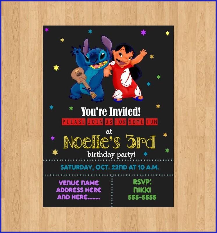 Lilo And Stitch Personalized Invitations
