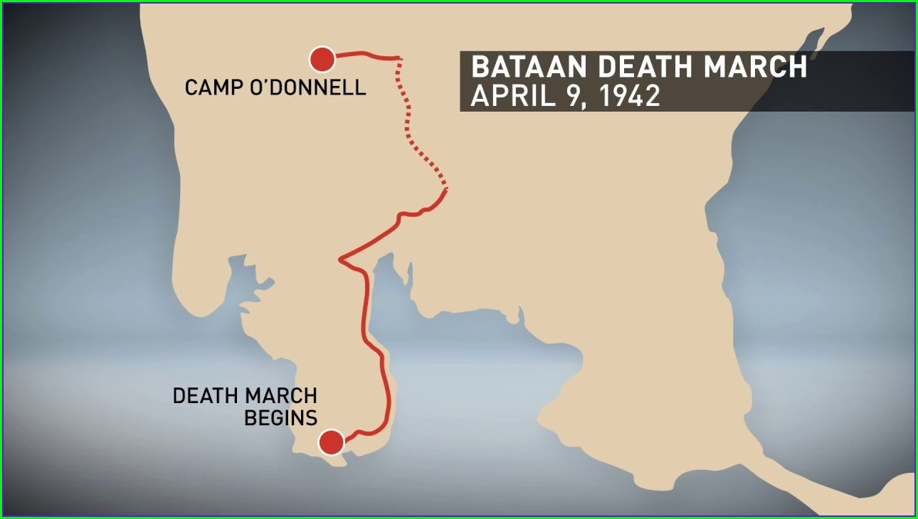 Location Bataan Death March Map