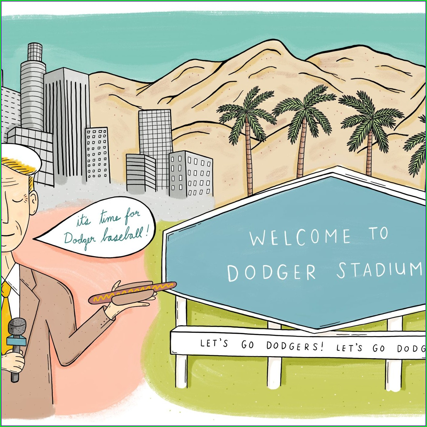 Los Angeles Dodgers Parking Map
