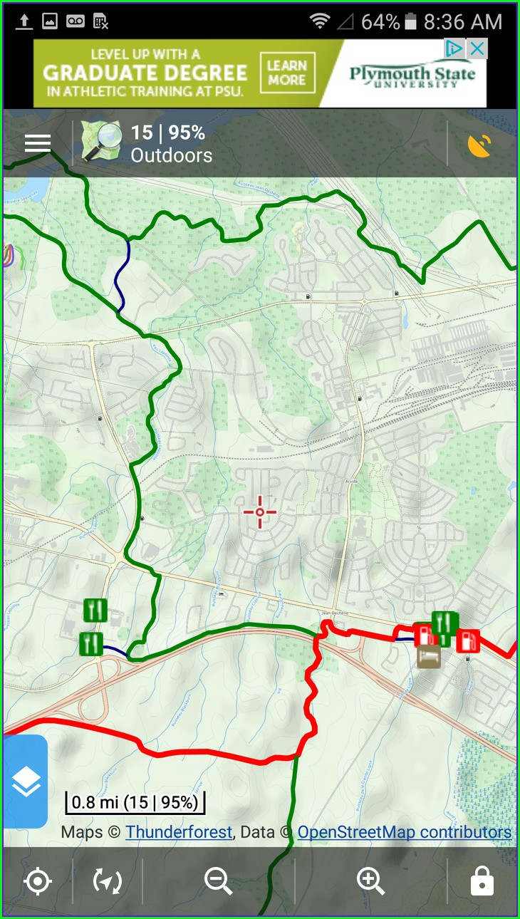 Maine Snowmobile Trail Map App