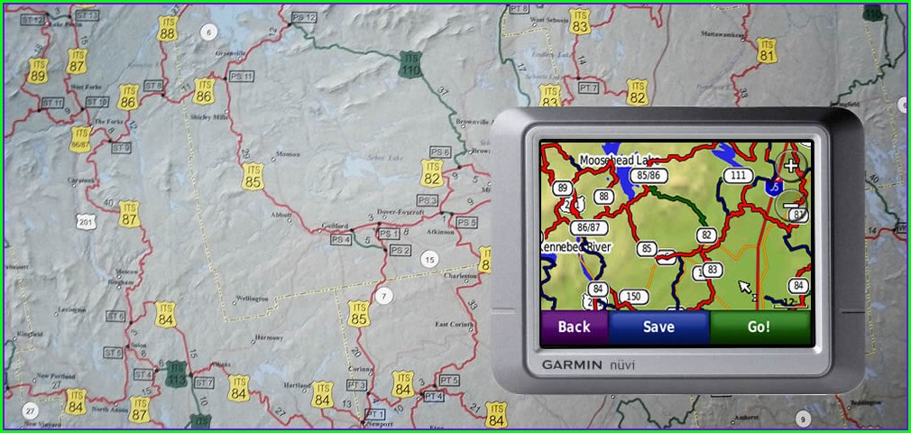 Maine Snowmobile Trail Map Gps
