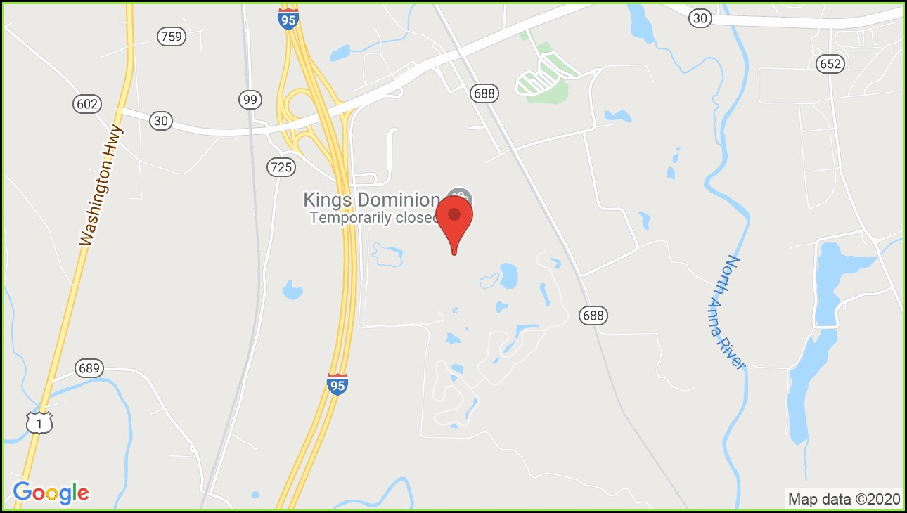 Map Kings Dominion Va