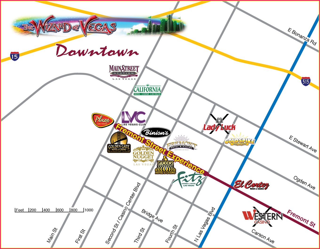 Map Of Laughlin Casino Strip