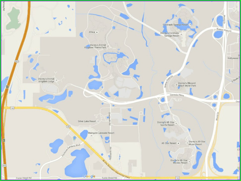 Map Of Polynesian Resort Disney World