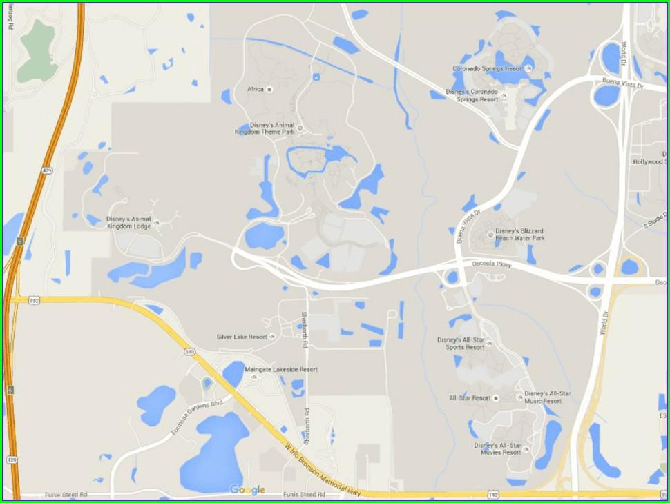Map Of Polynesian Resort Disney World